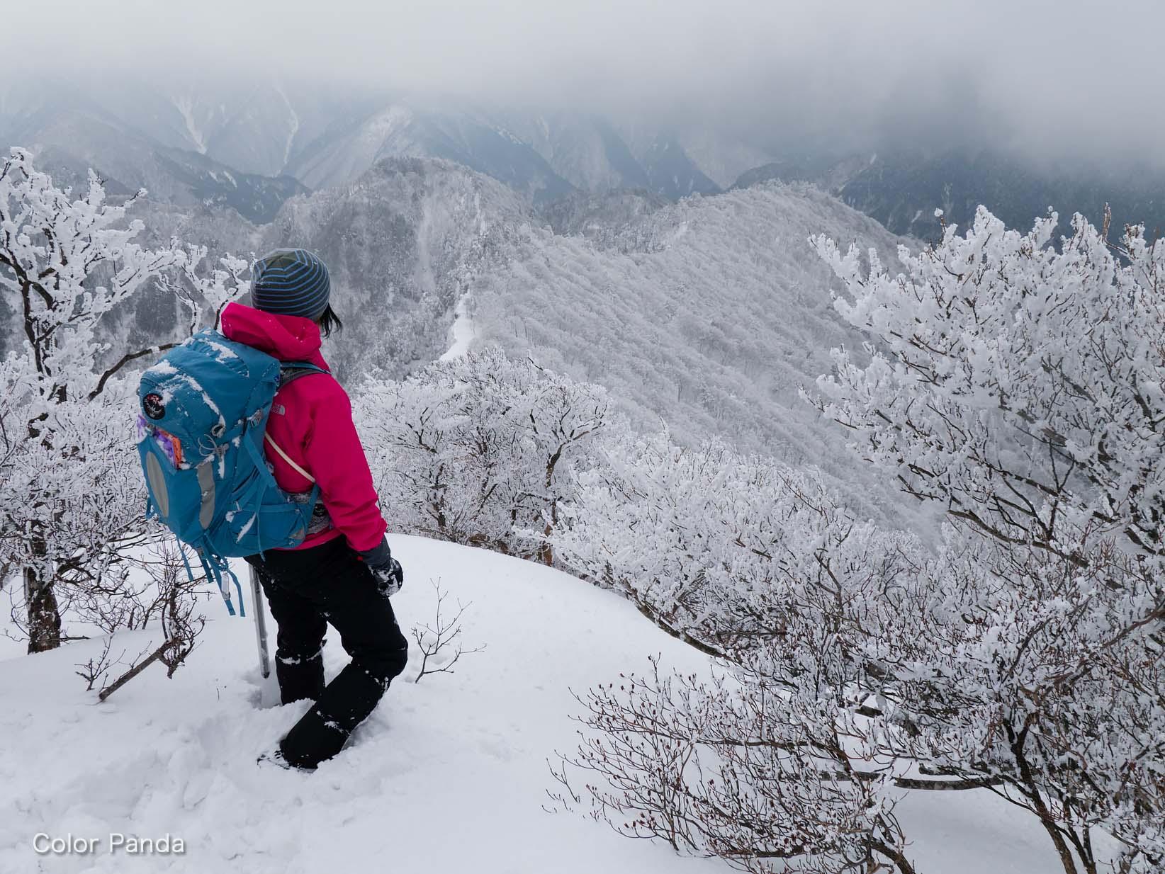 雪壁大普賢岳