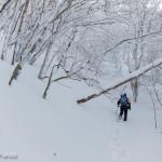 雪深く稲村ヶ岳
