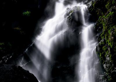 台高銚子川二ノ俣谷男滝(黒滝)