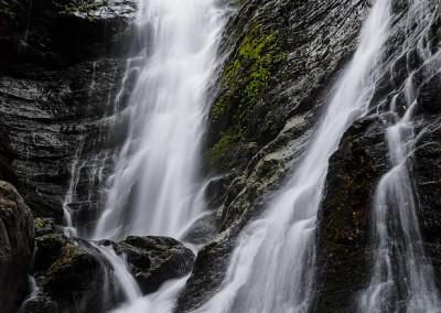 台高蓮川ヌタハラ谷不動滝(夫婦滝)上段