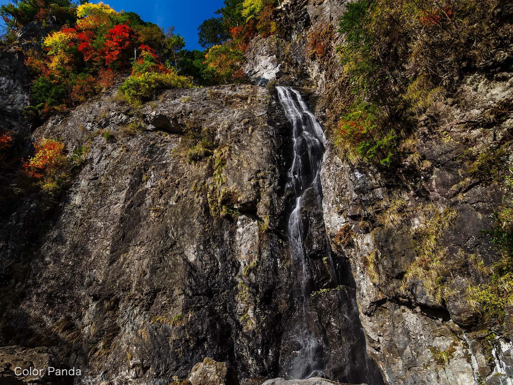秋色火吹谷大滝